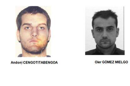 Andoni Zengotitabengoa (a la izquierda) y Oier Gómez.