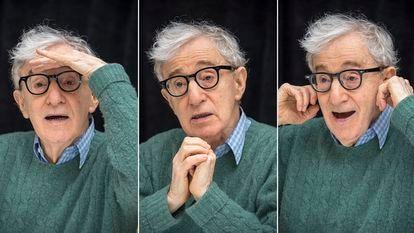 Woody Allen, en una rueda de prensa en Nueva York a finales de 2017.