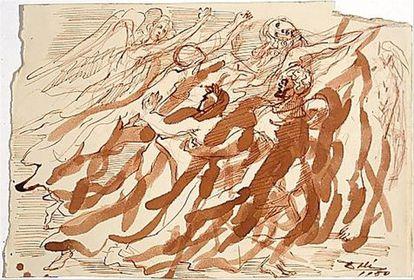 Ilustración de 'La Divina Comedia' de Salvador Dalí.