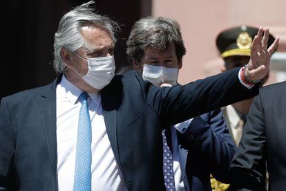 El presidente de Argentina, Alberto Fernández, el 27 de octubre en un homenaje realizado en Buenos Aires por el décimo aniversario del fallecimiento del expresidente Néstor Kirchner.