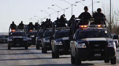 Policía federal mexicana.