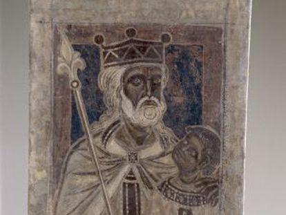 Uno de los retratos de las pinturas del monasterio de Sijena