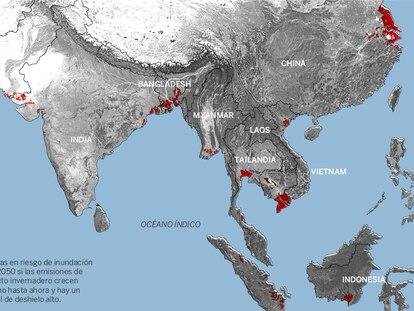 300 millones de personas, amenazadas por la subida del nivel del mar en 2050