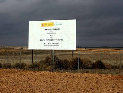Terrenos previsto para el almacén nuclear de Villar de Cañas (Cuenca).