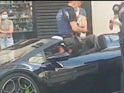Batman en la Gran Vía de Madrid.