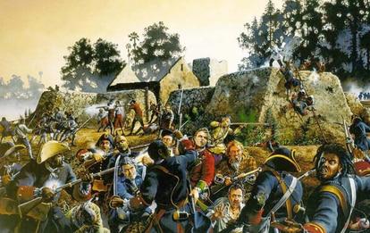 Recreación de la Batalla de Fuerte Mosé.