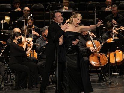 Un momento de 'Tosca', en el Festival de Peralada.