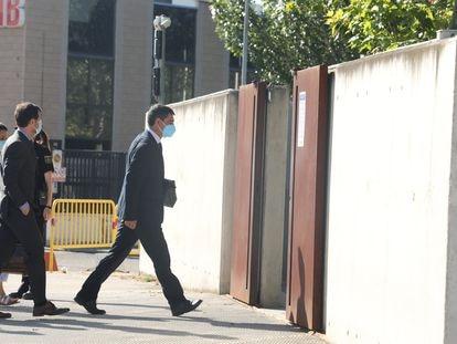 El major de los Mossos d'Esquadra, Josep Lluís Trapero, a su llegada a la Audiencia Nacional este lunes.