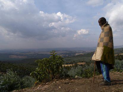Vista de la montaña Entoto, en Etiopía.