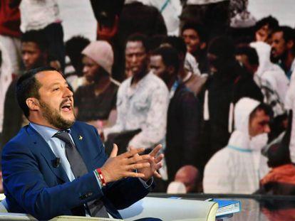 Matteo Salvini, ministro del Interior italiano. AFP PHOTO / Andreas SOLARO
