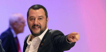 Matteo Salvini, en la conferencia de seguridad e inmigración de Viena, el 14 de septiembre.