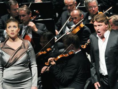La soprano Annette Dasch y el tenor Klaus Florian Vogt.