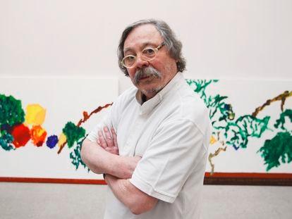 Alberto Corazón, en la galería Marlborough en 2013.