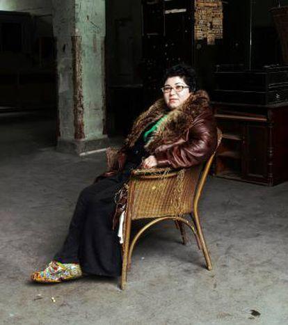 La artista gallega Ángela de la Cruz en una imagen de archivo.