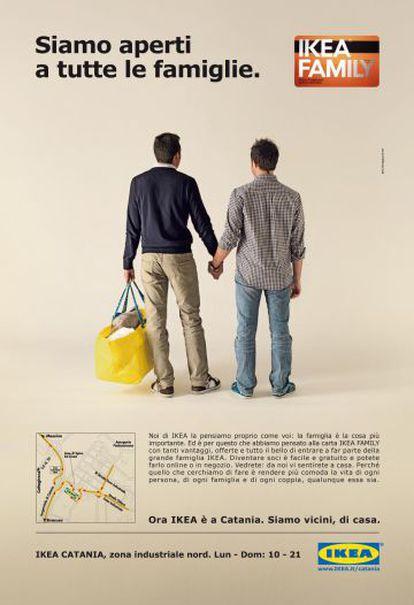 El anuncio de Ikea de 2011 en apoyo a las parejas homosexuales que generó críticas por parte del Gobierno italiano