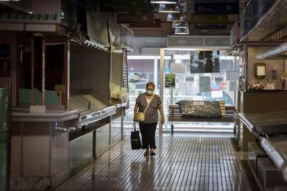 Mercado del barrio de la Florida, en L'Hospitalet del Llobregat, el mes pasado.
