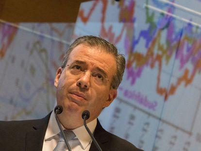 El gobernador del Banco de México, Alejandro Díaz de León, en mayo.