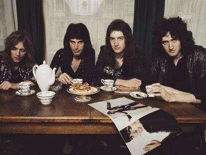 Queen encabeza con 'Bohemian Rhapsody' la lista de las 100 mejores canciones del rock de la revista inglesa 'Classic Rock'. En la imagen, el grupo en Londres en 1974. De izquierda a derecha, Roger Taylor, Freddie Mercury, John Deacon y Brian May.