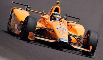 Alonso, durante las 500 Millas de Indianápolis.