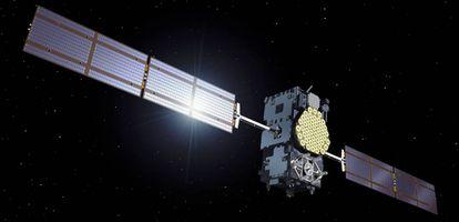 Recreación de uno de los satélites del sistema Galileo