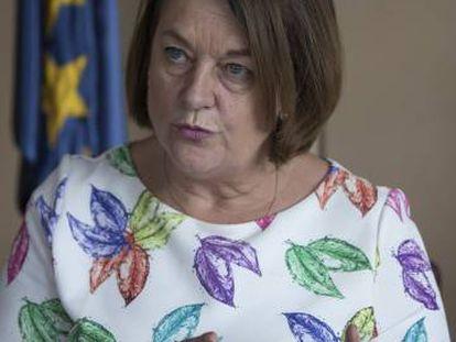 Nathalie Griesbeck, durante la entrevista en las oficinas del Parlamento Europeo en Madrid.