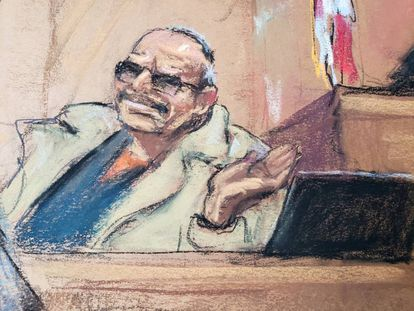 Jesús 'El Rey' Zambada, durante el juicio a 'El Chapo' Guzmán.