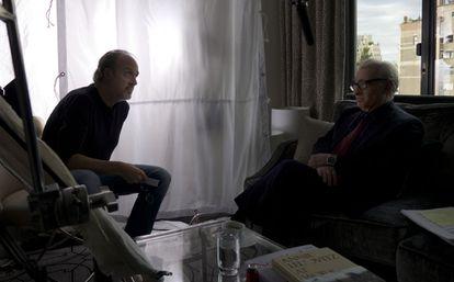 Kent Jones entrevista para el documental a Martin Scorsese.