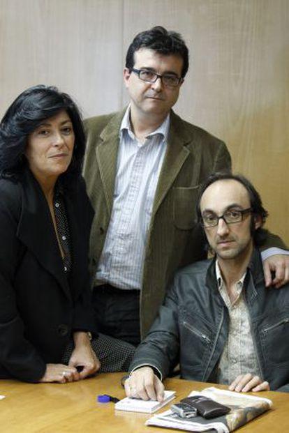 Almudena Grandes, Javier Cercas y Agustín Fernández Mallo, en 2010.
