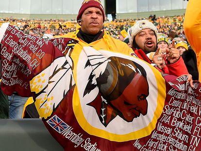 Seguidores de los Redskins de Washington en el estadio de Green Bay, Wisconsin.