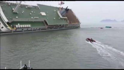 Vídeo difundido por los guardacostas surcoreanos.