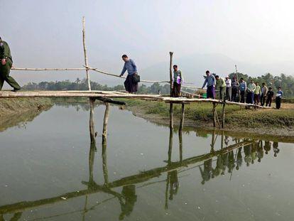 Repatriación de refugiados rohingya a Myanmar.