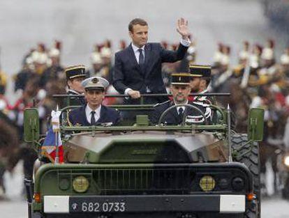 Emmanuel Macron, al ser proclamado presidente de Francia, el 14 de mayo de 2017.