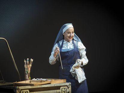 Carmen Machi durante una representación de 'La autora de Las meninas'.