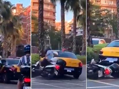Secuencia del atropello a dos moristas en Travessera de Dalt de Barcelona.