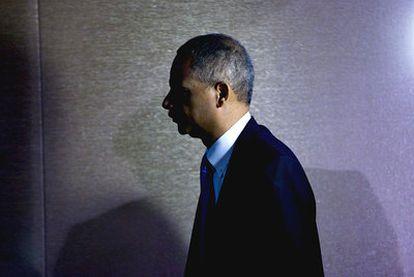 El fiscal general Eric Holder, tras reunirse ayer con representantes de los medios en Washington.