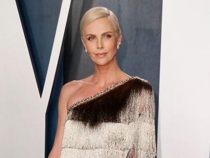 Charlize Theron, en la fiesta de Vanity Fair de los Oscar en Los Ángeles el pasado febrero.