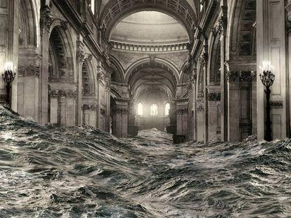 'Nave', fotomontaje de Genovés para la catedral de San Pablo.