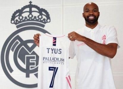 Tyus, en su presentación como nuevo jugador del Madrid. /EUROPA PRESS
