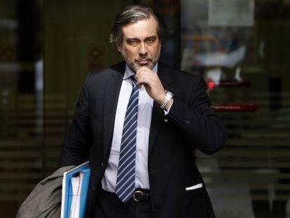 El magistrado Enrique López, en la Audiencia Nacional.