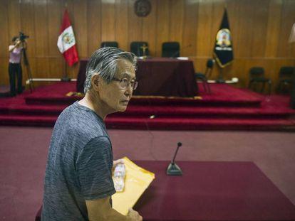 Alberto Fujimori en una fotografía en Lima, en 2015.