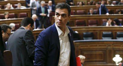 El líder del PSOE, Pedro Sánchez, este martes.
