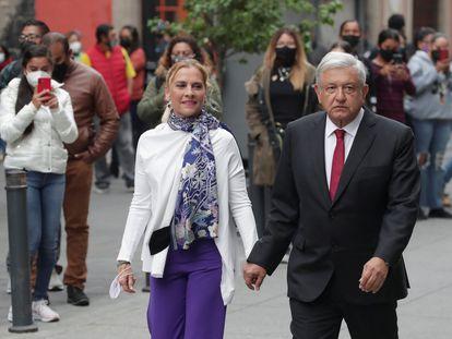Andrés Manuel López Obrador y su esposa, Beatriz Gutiérrez Müller, el pasado 6 de junio.