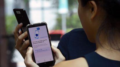 Aplicación contra la Covid 19 en Singapur que se basa en tecnología bluetooth