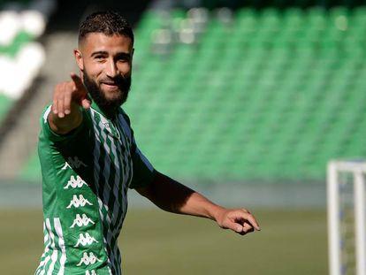 En vídeo, Fekir, en su presentación como jugador del Betis.