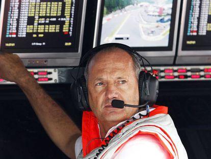 Ron Dennis, patrón ejecutivo de la escudería McLaren, en 2008.
