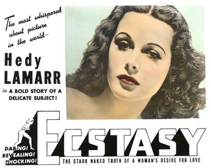 Hedy Lamarr en 'Éxtasis'.