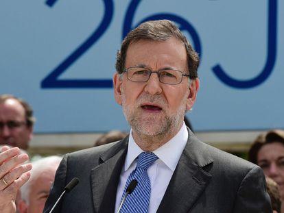 Rajoy, en un acto en Madrid. AFP