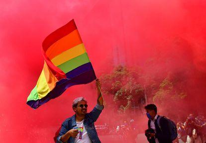 Imagen de archivo de una marcha del orgullo LGTB en Ciudad de México.