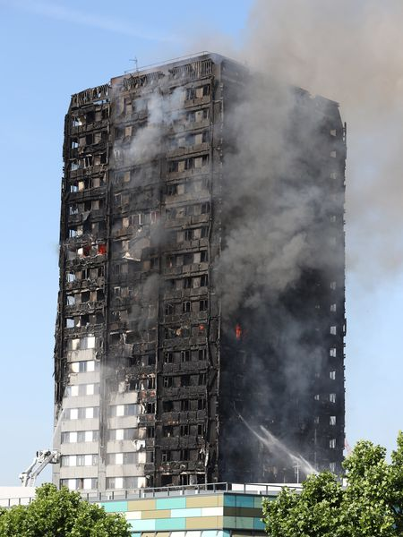 Time of the Grenfell Tower fire in London in June 2017.