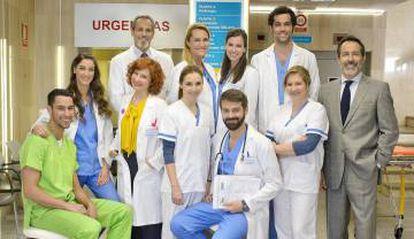 Los actores de 'Centro médico'.